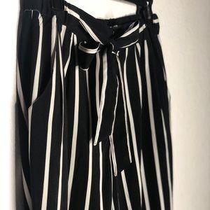 striped parachute pants